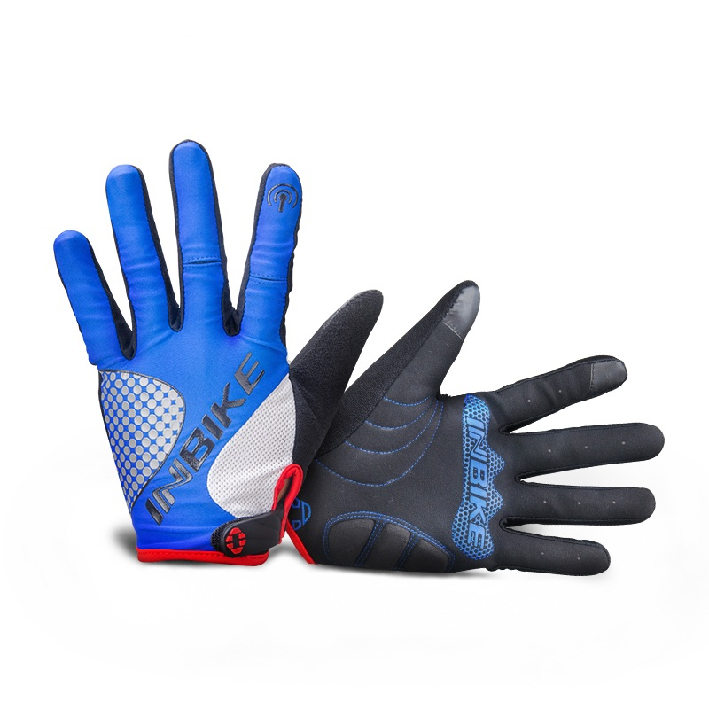 INBIKE 2018 New Full Finger Gloves Winter Windproof Women Men For Outdoor Sport Touch Screen Runing Hiking Shockproof Gloves