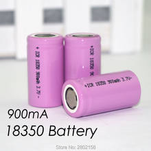 3PCS. ICR 18350 lithium battery 900 mAh battery 3.7 V power cylindrical lamp electronic smoking(China)