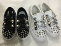 2016 spring flats baby girl leather shoes toddler shoes children black shoes kids black shoes pink boys rome white brown bebe
