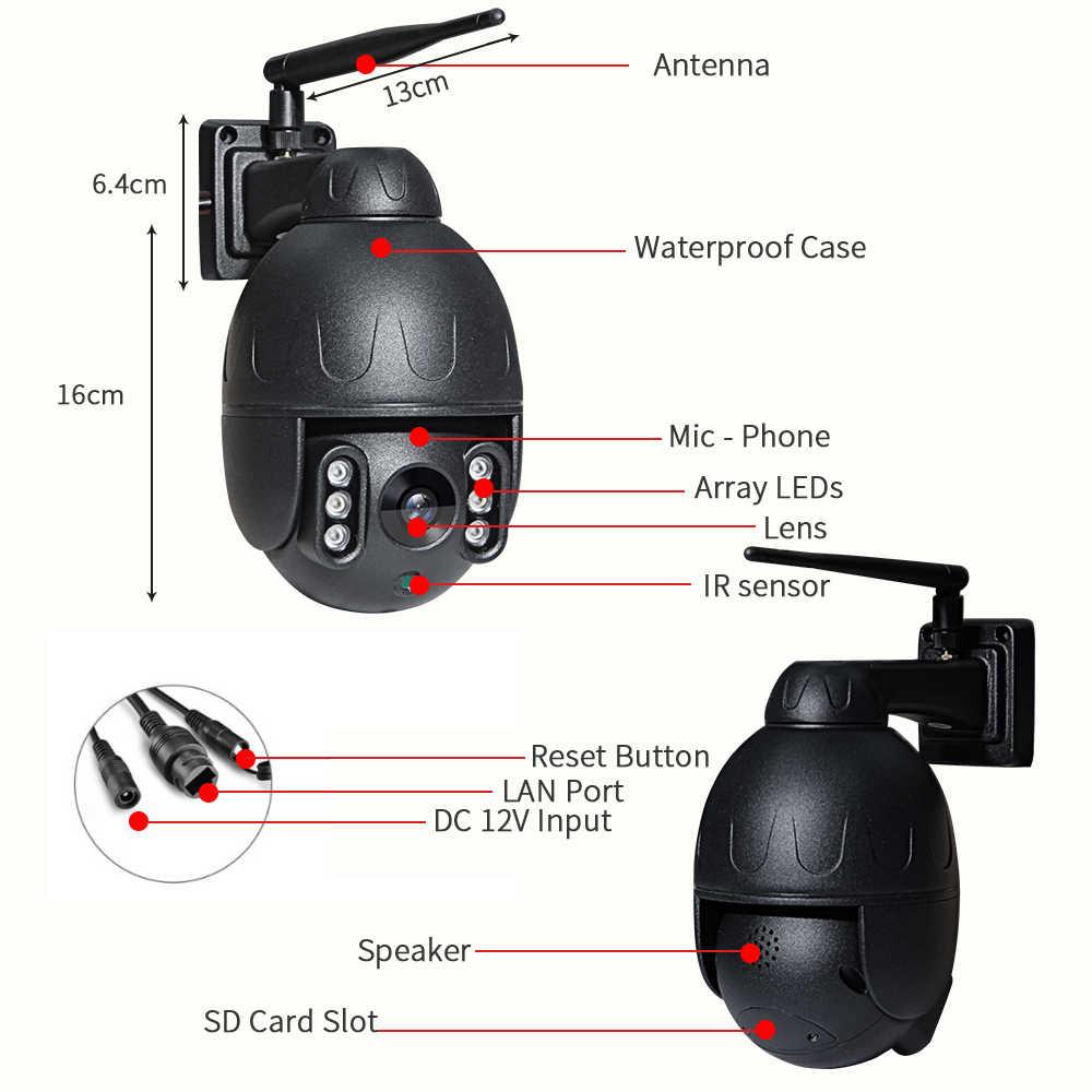 INQMEGA 1080 P IP Camera Không Dây An Ninh Dome WIFI PTZ Mini Tốc Độ Cam Ngoài Trời Onvif Giám Sát Wifi Máy Ảnh Âm Thanh Ghi Lại CCTV