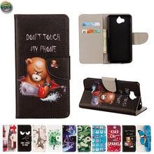Wallet Case For Huawei Y6 2017 MYA-L41 MYA-TL01 MYA-AL00 Phone Leather Flip Case Cover For Honor 6 Play MYA L41 TL01 AL00 Bag недорого