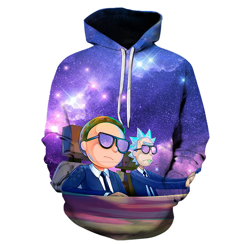 Men Hoody Sweatshirt Rick And Morty 3D Hoodies Pullovers Clothing Fashion Cartoon Hooded Sweatshirt Rick And Morty Hoody S-6XL
