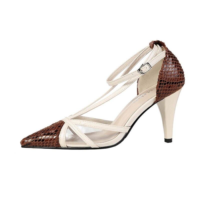 Femmes escarpins talons hauts chaussures couleur correspondant talon mince court talon haut bureau travail rencontres chaussures S37 talon 8.5cm offre spéciale
