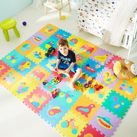 10PCS Educational Baby Play Mat Eva Foam Number Animal Interlocking Puzzle Carpet Mat Developing Crawling Mat