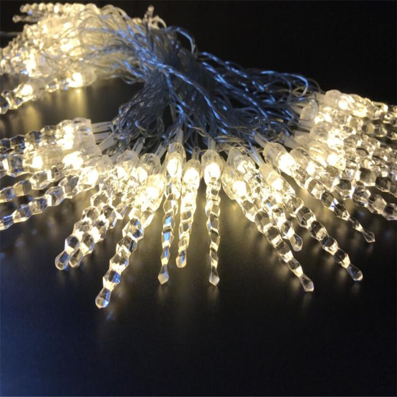 10M 50 LED Icicle String Lights Nytår Christmas Xmas Wedding Party - Ferie belysning - Foto 5