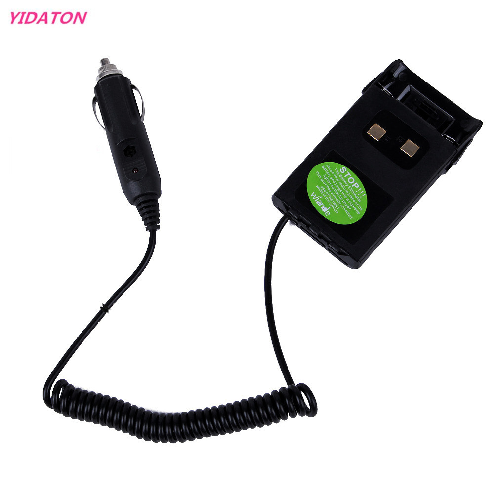 YIDATON Black Charger Battery Eliminator Adaptor For Car Radio For KG-UVD1P KG-UV6D KG-659 KG-669