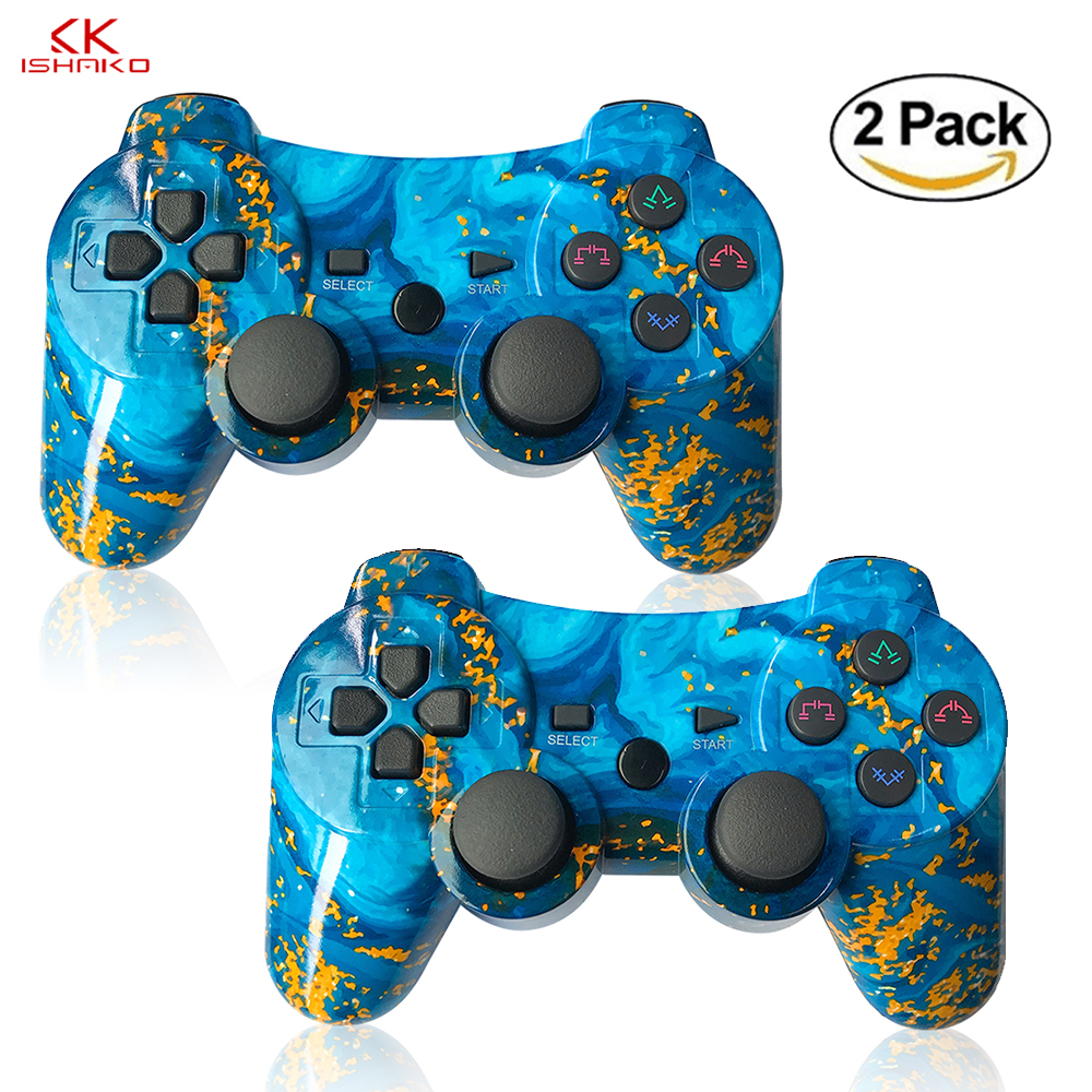 For Sony Ps3 Controller Wireless Bluetooth For Playstation3 Controller For Dualshock4 Vibration Joystick Gamepad New Style Ocean Gamepads Aliexpress