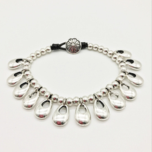 Fashion new retro water drop lock parts, bracelet, hand woven leather rope bracelet B042