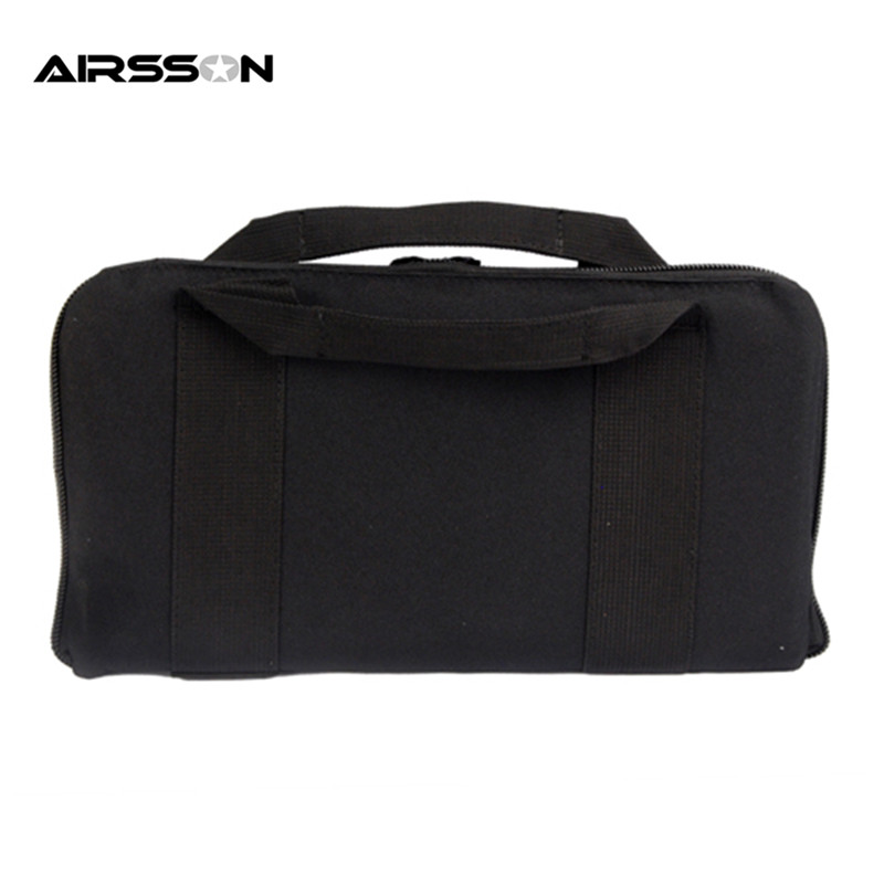 Military Tactical Airsoft Pistola Pistola Carry Bag Pouch Case 14 ''Nylon Acolch