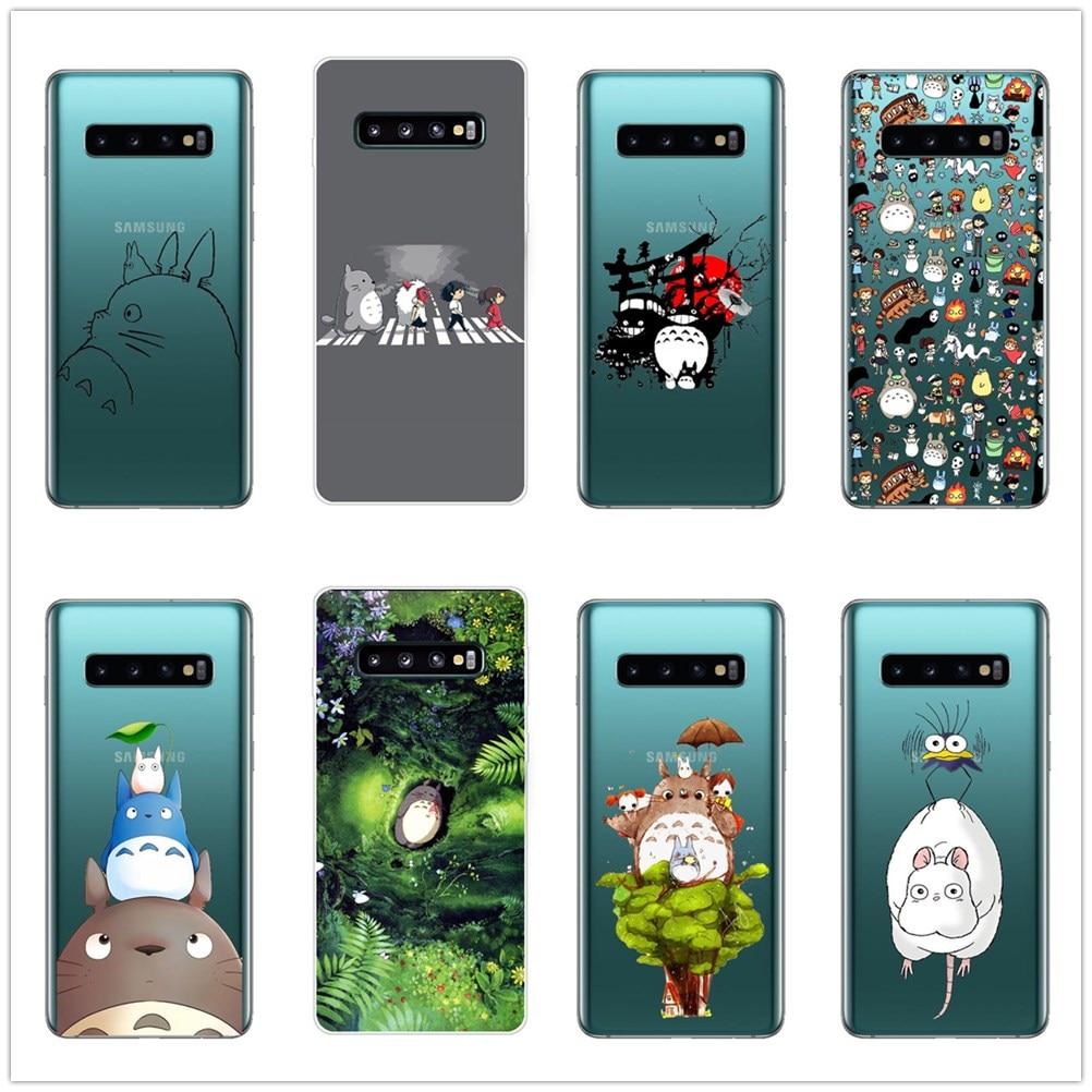Cute Totoro Spirited Away Ghibli Miyazaki Anime Soft Case Cover For Samsung Galaxy J3 J5 J7 2016 J7 2017 EU J6 J8 2018 NOTE 8 9 in Phone Pouches from Cellphones Telecommunications