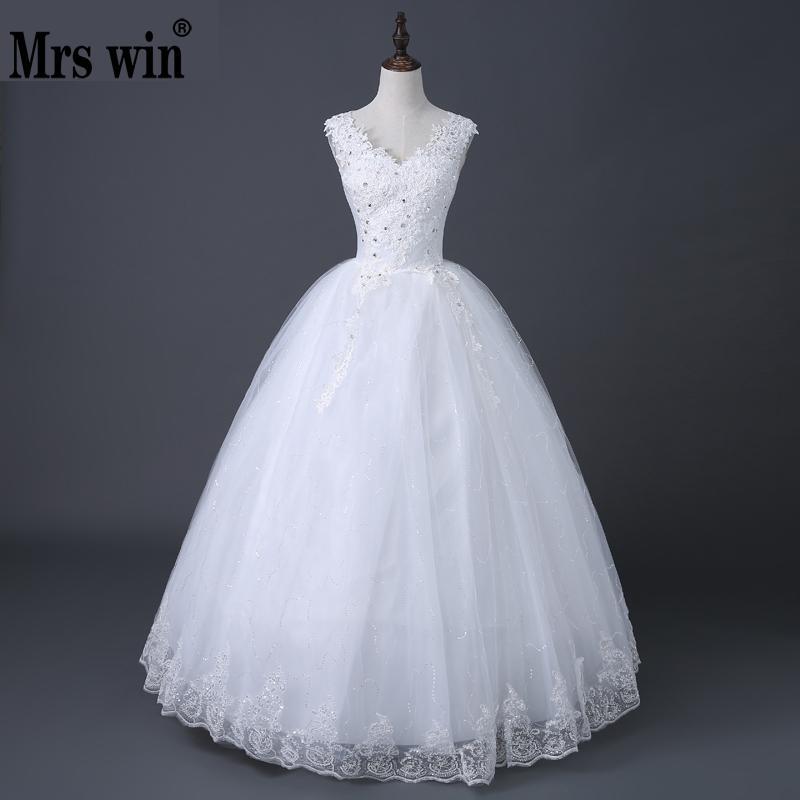 Vestido De Noiva 2019 New Arrival Organza V-neck Crystal Diamond Lace Up Ball Gown Lace Satin Princess Wedding Dresses