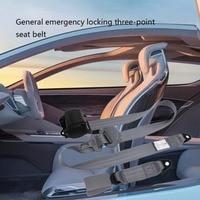 E24 Safety Certificate Retractable 2 Point Seat Belt Lap Auto Car Seatbelt  Set Kit For Bus Truck Cars Universal Fit