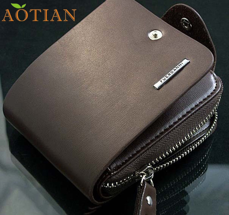 цена  Mens Leather ID Card Holder Billfold Zip Purse Wallet Handbag Clutch High Quality DEC07  онлайн в 2017 году