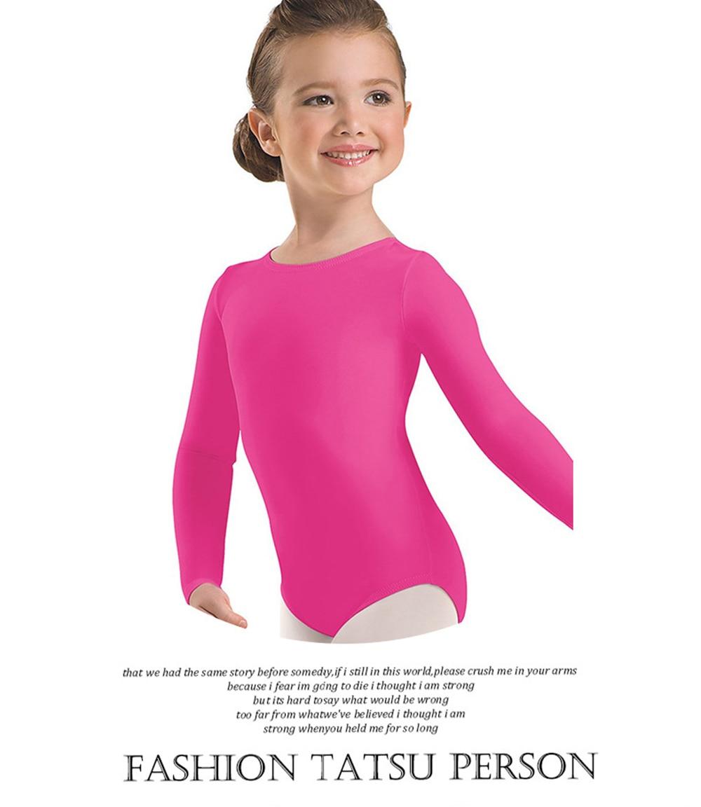 a84284d6cb39b Speerise Toddler Long Sleeve Gymnastics Leotards for Girls Lycra ...