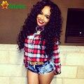 Hot 7a Malaysian Deep Curly Hair With Closure 4 Bundles Beauty Miss Lula Hair Malaysian Virgin Hair Wet And Wavy With Closure