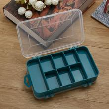 Plastic Fishing Lure Box Case Double-Side 8 Small Components Fish Hooks Storage Box Fishing Tackle Boxes 15.5 * 10 * 4.5CM