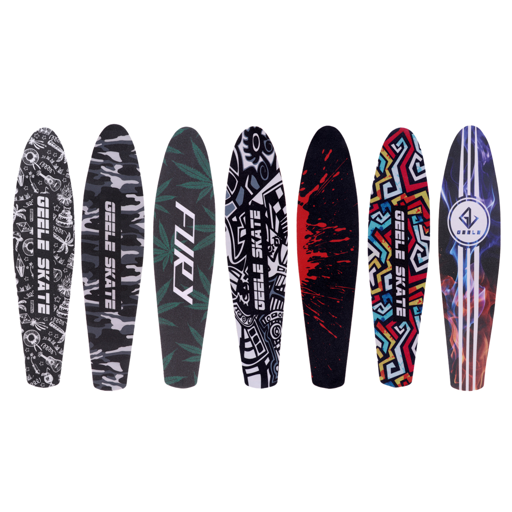 22'' Fish Board Skateboard Grip Tape Sheet Bubble Free Waterproof Scooter Longboard Griptape Sandpaper