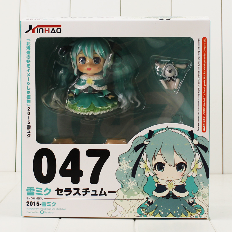 New Anime Hatsune Miku Figure Toy Nendoroid 047 With Changeable Face Cartoon Action In Figures From Toys Hobbies On