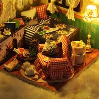 3D Dollhouse Miniature Kit FAI DA TE Casa Inverno Canzone Assemblea Casa Modello Handmade Di Puzzle Giocattolo Per L'apprendimento Giocattolo Educativo