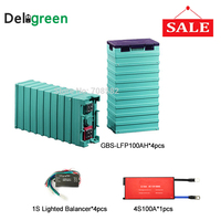 Promotional 4S 12V 100A Lifepo4 bms for 4pcs GBS Lifepo4 100AH battery Cell with Battery voltage equalizer
