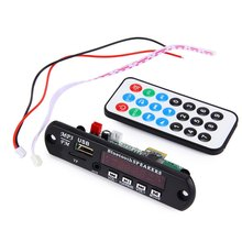 Hot Car Bluetooth Module Wireless Audio Decoder Decoding Board 12V MP3 WMA AUX Remote Control Audio Module USB TF Radio For Car