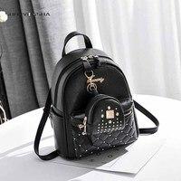 Kanken Woman Backpack 2017 Leather Brands Female Backpacks High Quality Schoolbag Backpack Elegant Mochilas Escolar Feminina
