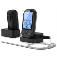 Backlight Digital Wireless Food Thermometer Electronic Belt Probe Meat Thermometer Free Shipping