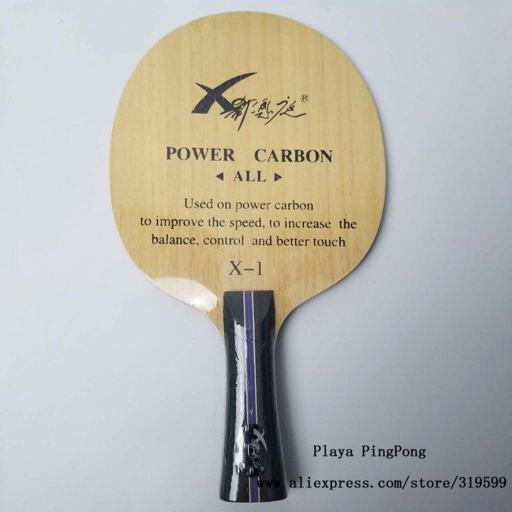 Xi Enting/XVT tennis de table lame carbone/pur bois de formation complet ping-pong tennis de table raquette [Playa PingPong]