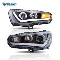 Vland Car Styling For Lancer EVO X 2008 UP Car Headlight Assembly Projector Front Light