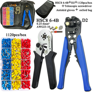 Image 5 -   Electrician Pliers Junction Box Mini Pliers Tool Kit HSC8 6 4 0.25 6mm2 23 10AWG Crimping Wire Stripping:10 24awg 0.2 6.0mm2