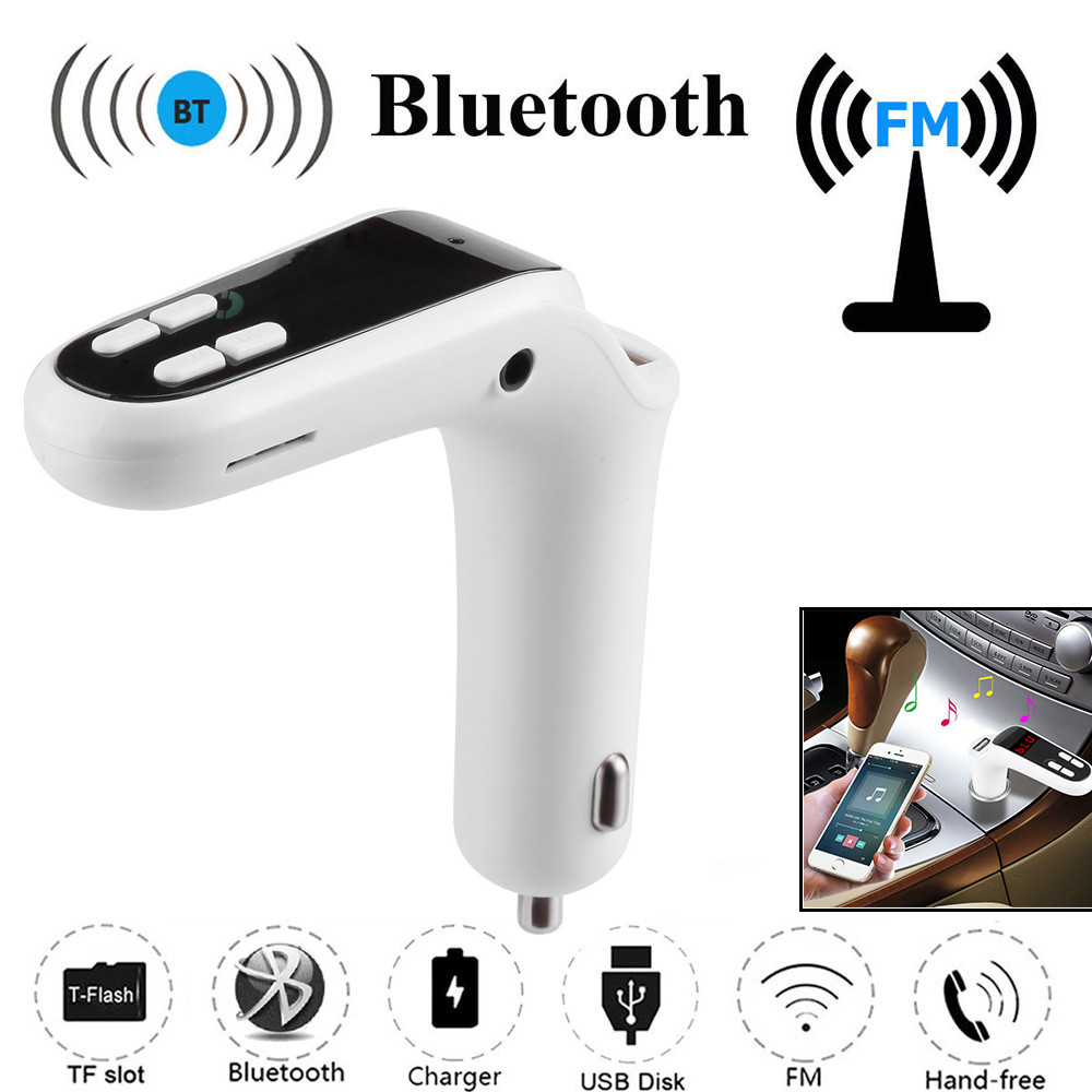 Wireless FM Transmitter Modulator Car Bluetooth Kit G7 Charger Upgrade To C8 AUX Wireless Handsfree Car Music Player