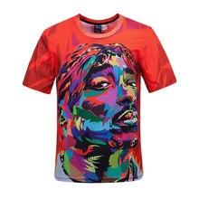 Neue T-shirt-marke Kleidung T-shirt Homme 3D Charakter Muster Streetwear Hip Hop Tyga Drucken T Shirts Männer Slim Fit O-ansatz Herren