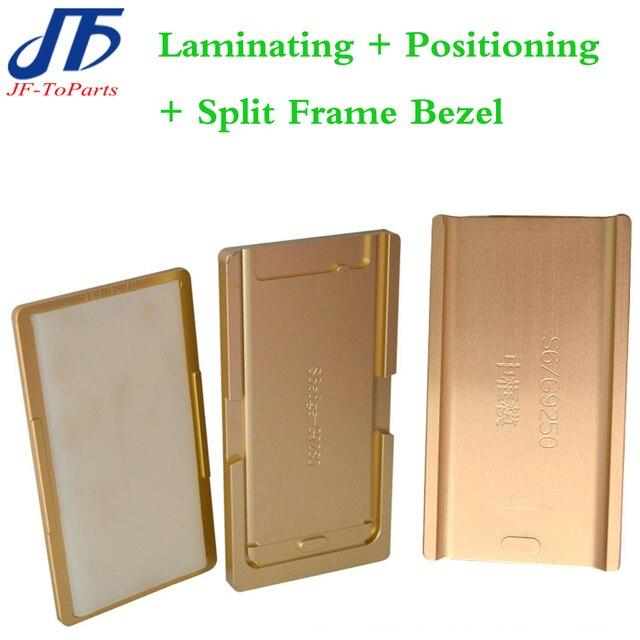 1 компл. плесень Для s6 edge/s7 edge/примечание Ламинатор плесень металла на переднее стекло с рамкой Место для оса пользователя + split frame рамка