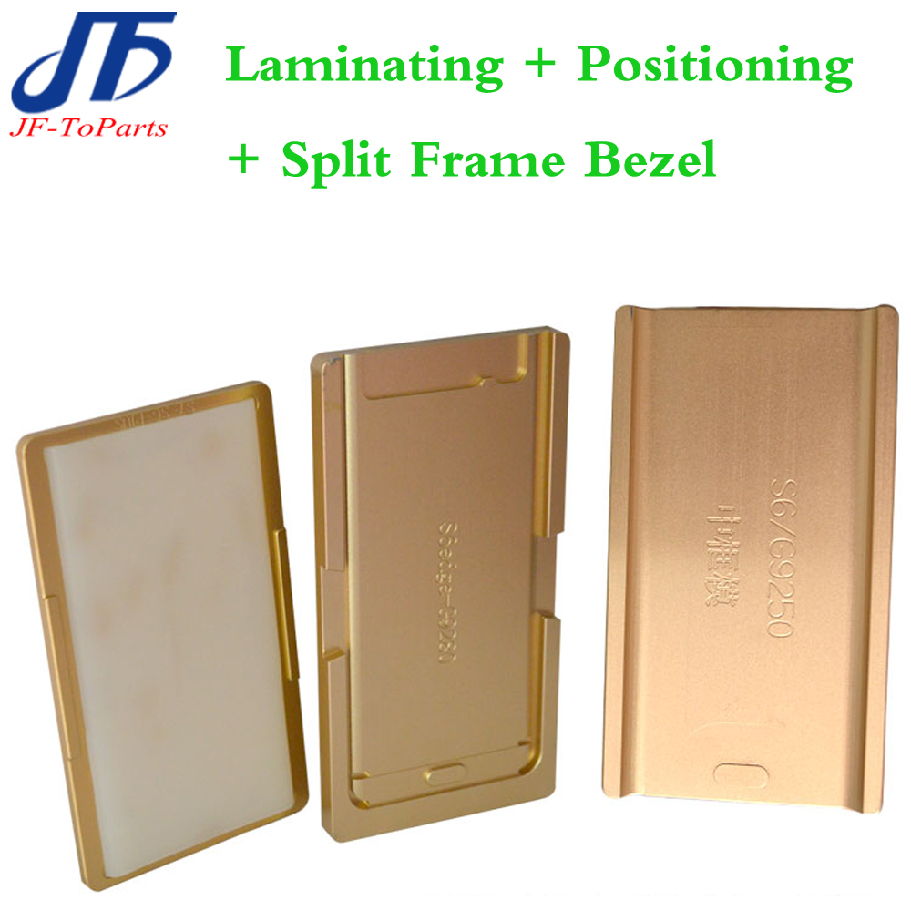 1set 3pcs mould For s7 edge / s8 / s6edge Laminator mold metal for front glass + frame Location for oca user + split frame bezel