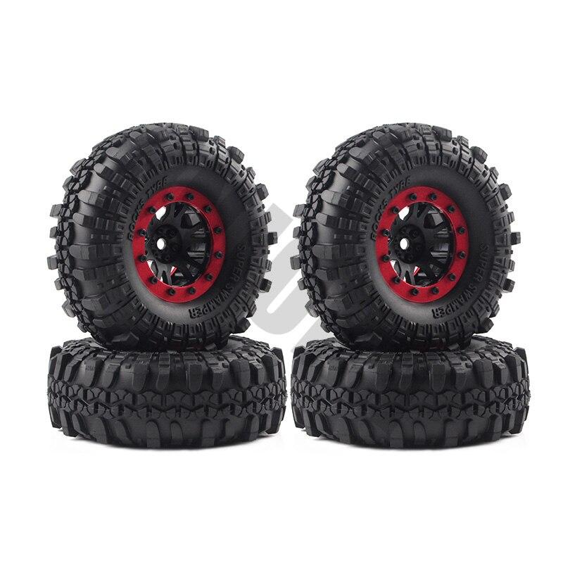 4PCS Plastic 1/10 RC Rock Crawler 1.9 Beadlock Wheel Rim Tires for 1:10 Axial SCX10 Tamiya CC01 D90 4pcs rc crawler 1 10 wheel rims beadlock alloy 1 9 metal rims rock crawler wheel hub parts for rc car traxxas rc4wd scx10 cc01