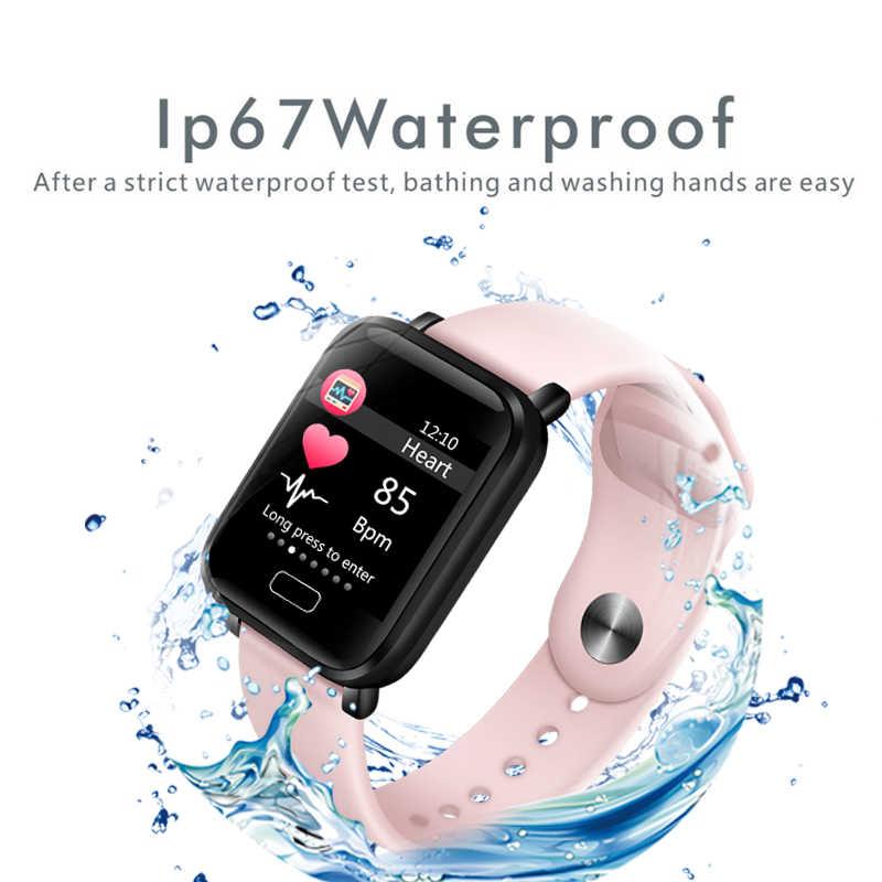 2019 Yeni Kadın Akıllı saatler Su Geçirmez Spor Iphone telefon Smartwatch nabız monitörü Kan Basıncı Fonksiyonları çocuk Için