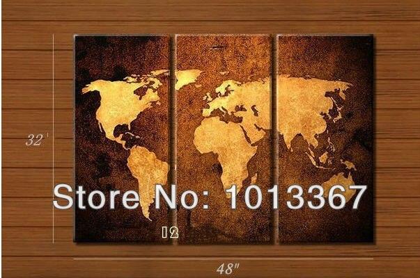 100 handmade high quality home decor world map oil for Quality home decor