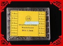 Hot 1000 pcs Kit de Reparação do Relógio Relógio de Aço Inoxidável Parafusos Parafusos Kit para Reparação do Relógio