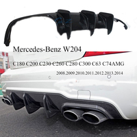 Bumper Diffuser Carbon Fiber Rear Lip Spoiler For Mercedes Benz W204 C180 C200 C230 C260 C280 C300 C63 C74AMG Car Accessories