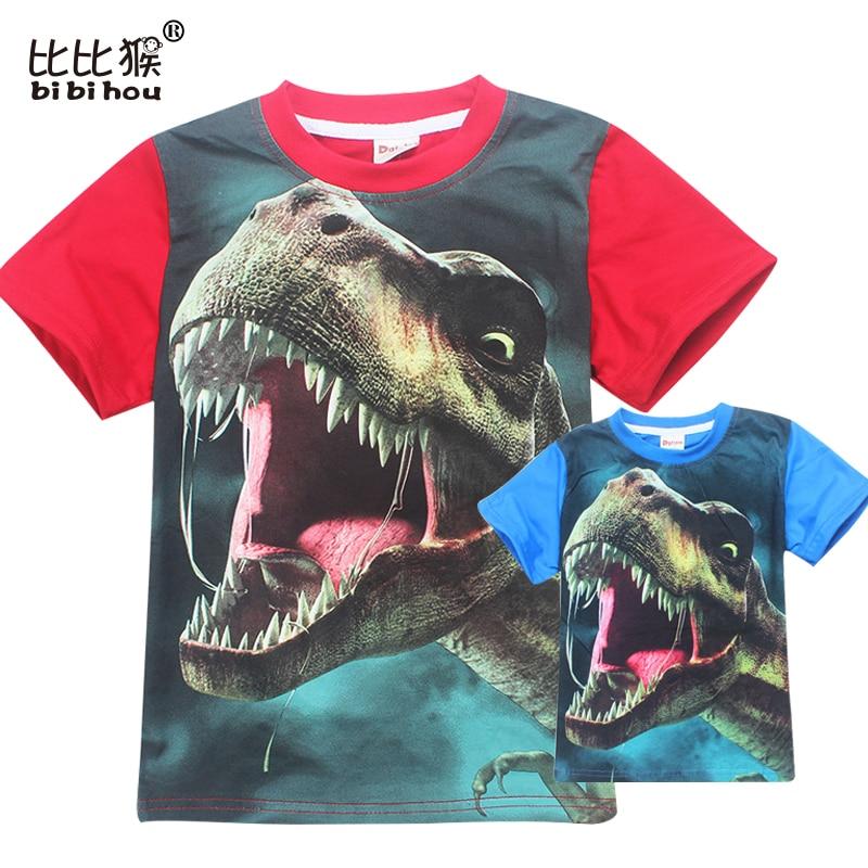3-12 Years Old Jurassic World dinosaur Children Kids Shorts Tops Tees T Shirt Fille Summer Teenager Boys Girls T-Shirt For boy