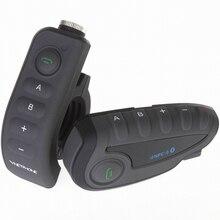 Vnetphone v8 intercomunicador bluetooth, para capacete de motocicleta, com controle remoto nfc, à prova d água, 5 pilotos, duplo, sem fio, interfone