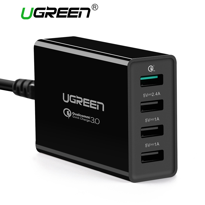Ugreen 34 Watt USB Ladegerät Schnellladung 3,0 Schnelle Handy ladegerät für iPhone Samsung Xiaomi Nexus Tablet 4 Port Desktop ladegerät