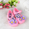 Drop shipping Fashion baby shoes bloved kids Summer Baby Girl Shoes Children Beach summer Lovely Flower Kids Shoes Feb710