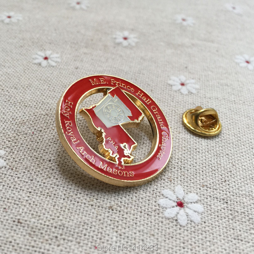 freemasonry masonic pin badges enamel brooches souvenir m.e. prince hall grand chapter holy royal arch masons p.h.a lapel pin