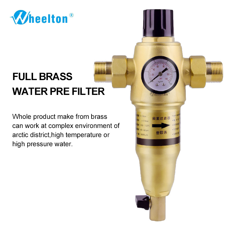 Prefilter water filter First step of water purifier system 59 brass 40 60micron stainless steel mesh