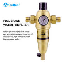 Prefilter water filter First step of water purifier system 59 brass 40-60micron stainless steel mesh prefiltro Freeshipping