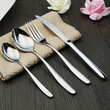 High grade cutlery set 18/10 stainless steel flatware fork spoon knife 4 pieces hotel dinnerware wholesale price free shipping