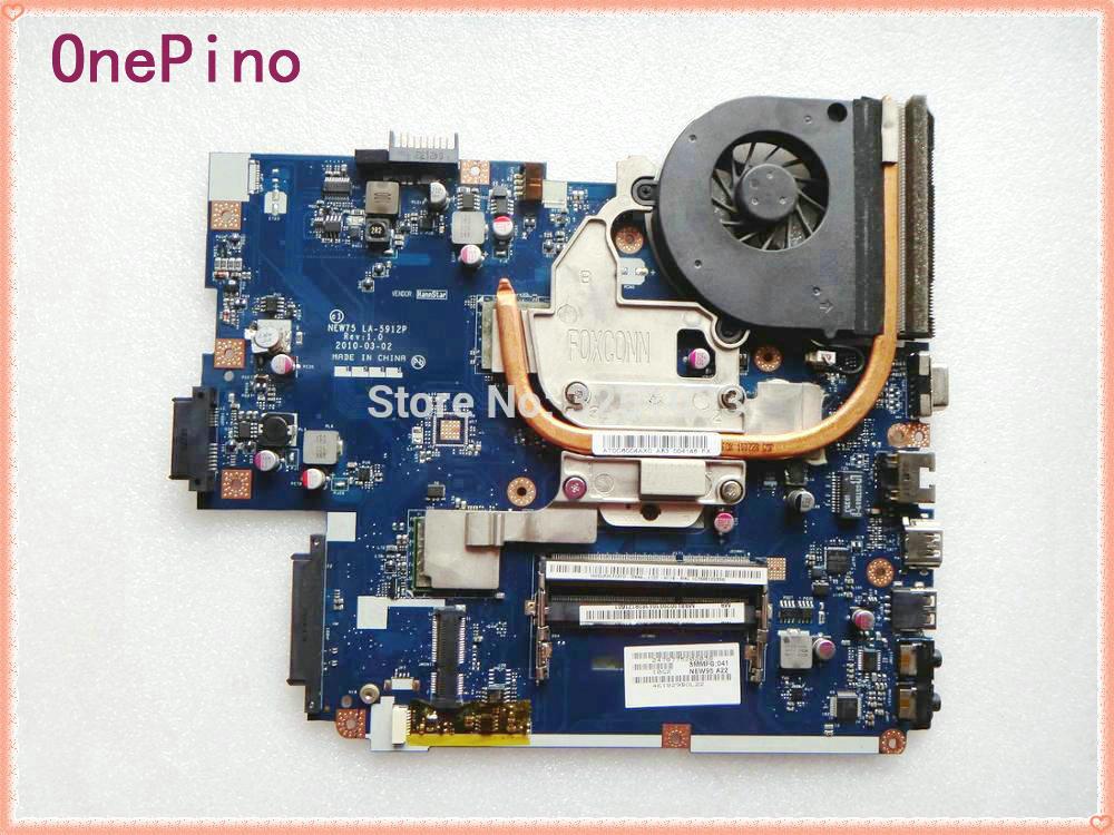 Per acer aspire 5552G 5551g 5551 scheda madre Del Computer Portatile LA-5911P = NEW75 LA-5912P + dissipatore di calore + CPU = LA-5911P Testato perfetto di lavoro