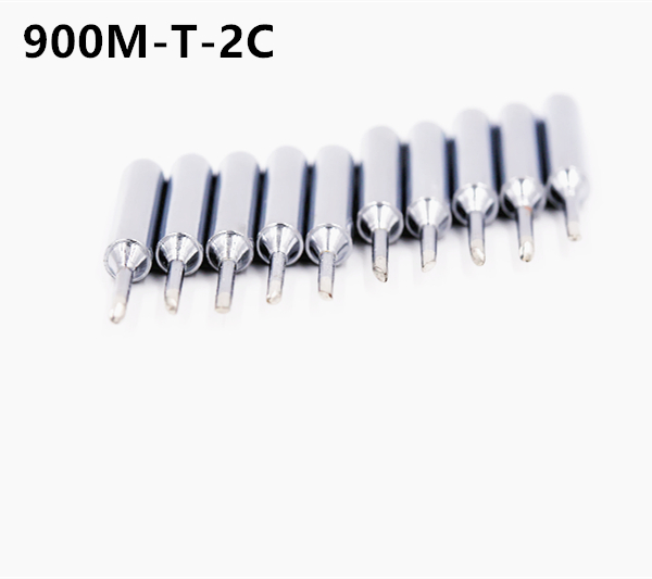 SZBFT 10 X Lead-free Replaceable 900M-T-2C Soldering Iron Tips  For Soldering Station Free Shipping