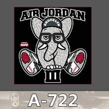 A-722 Air Jordan Elefanten Wasserdichte Kühle DIY Aufkleber Für Laptop Gepäck Skateboard Kühlschrank Auto Graffiti Cartoon Aufkleber